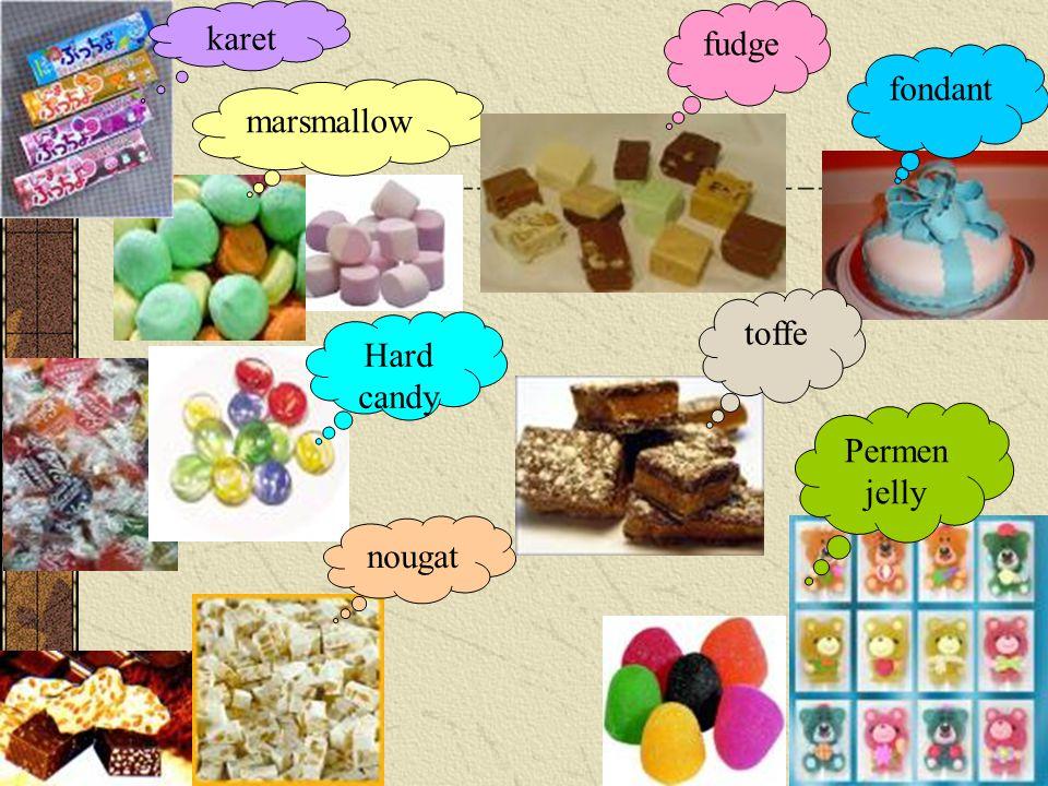 marsmallow Hard candy nougat fudge fondant toffe Permen jelly karet