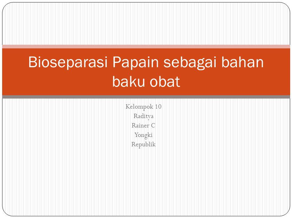 Isolasi Papain Getah pepaya dikumpulkan dengan konvensional digunakan sebagai bahan baku utama papain