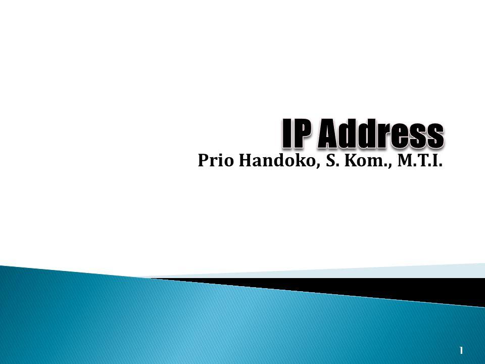 Prio Handoko, S. Kom., M.T.I. 1