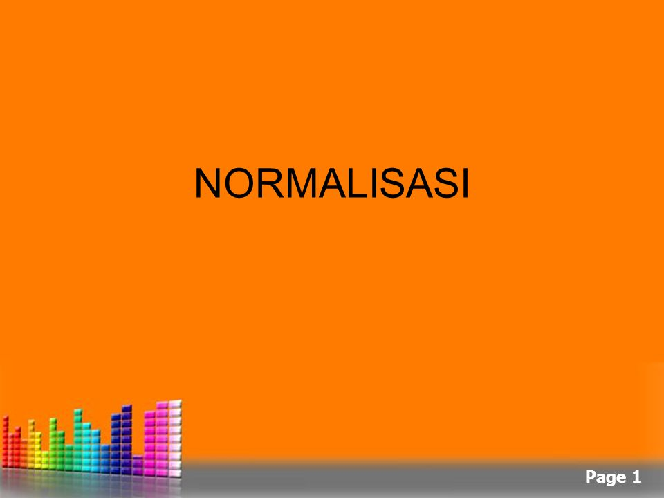 Page 1 NORMALISASI