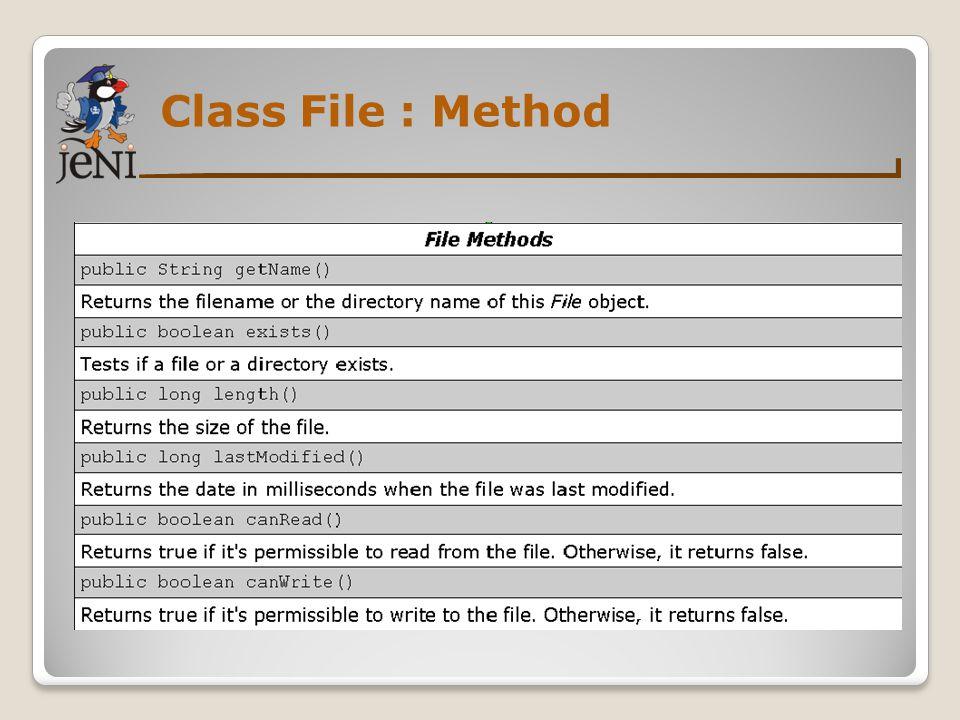 Class File : Method