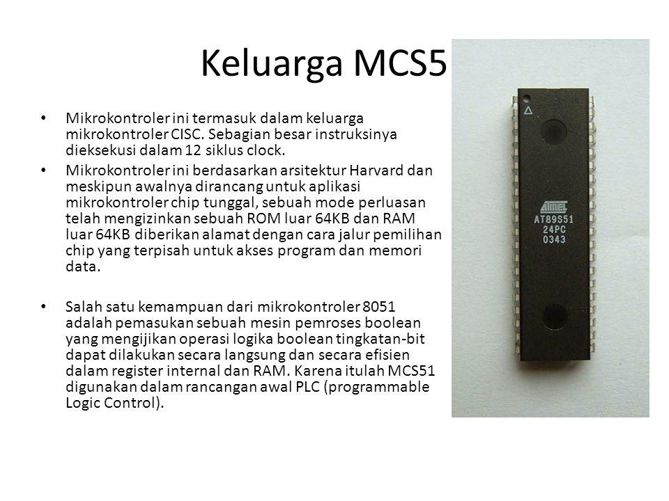Mikrokontroler ini termasuk dalam keluarga mikrokontroler CISC. Sebagian besar instruksinya dieksekusi dalam 12 siklus clock. Mikrokontroler ini berda