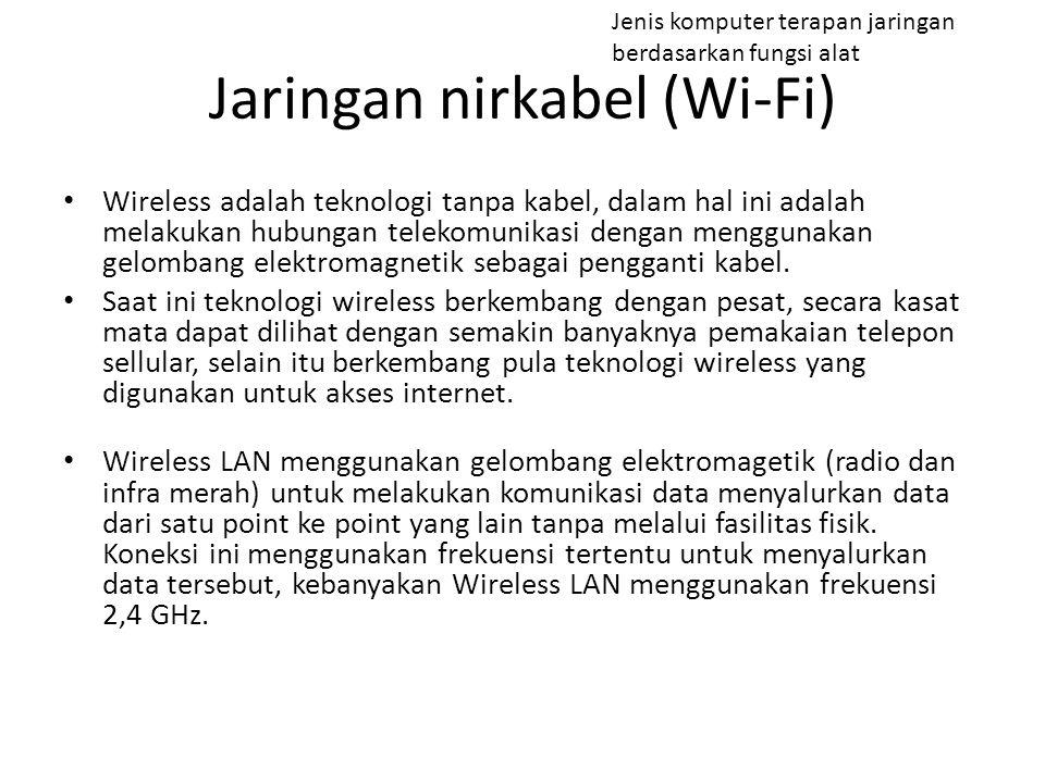 Wireless adalah teknologi tanpa kabel, dalam hal ini adalah melakukan hubungan telekomunikasi dengan menggunakan gelombang elektromagnetik sebagai pen