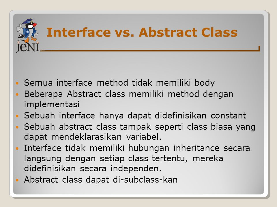 Interface vs.