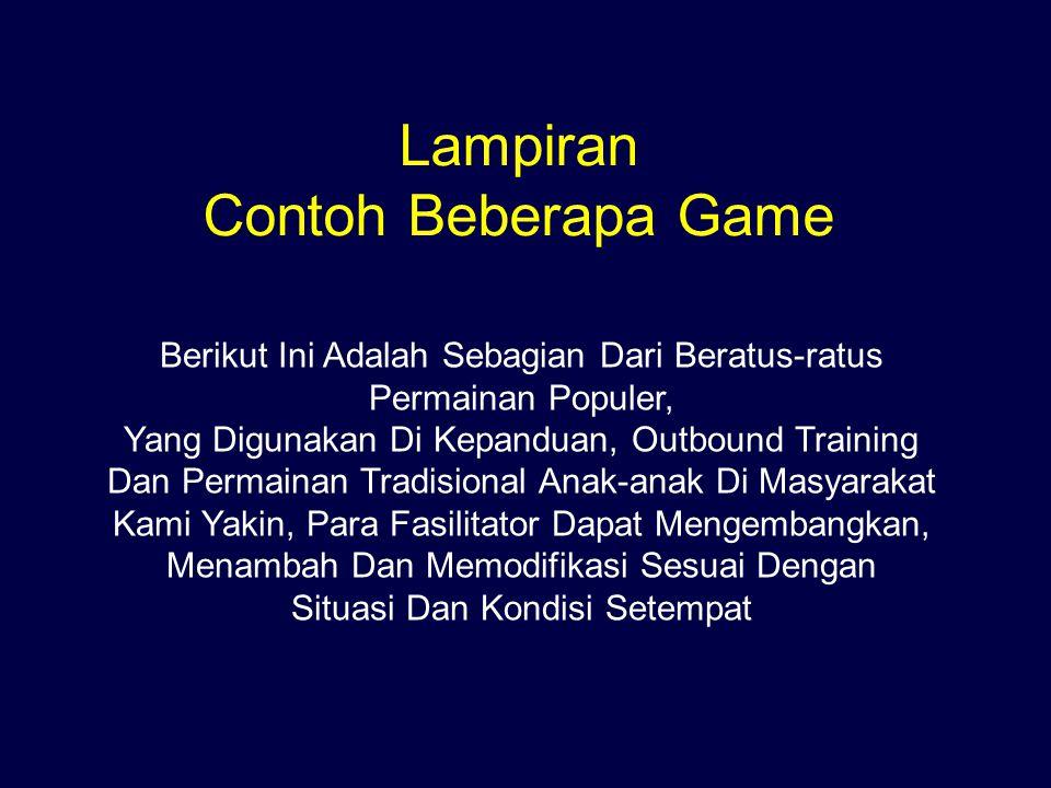 Lampiran Contoh Beberapa Game Berikut Ini Adalah Sebagian Dari Beratus-ratus Permainan Populer, Yang Digunakan Di Kepanduan, Outbound Training Dan Per