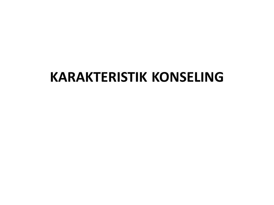 KARAKTERISTIK KONSELING