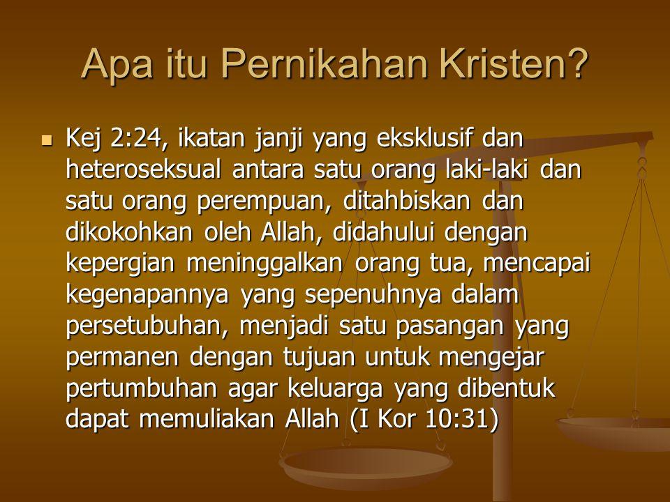 Apa Tujuan Pernikahan Kristen.