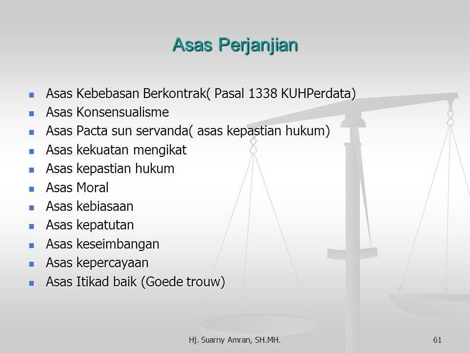 Sumber Perikatan 1. Ketetapan undang-undang 2. Perjanjian Perjanjian Pengertian Perjanjian adalah perbuatan hukum antara satu orang atau lebih mengika