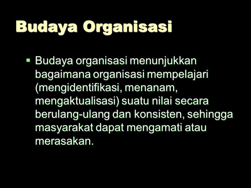 Budaya organisasi Managerial discretion (kebijaksanaan) Lingkungan organisasi