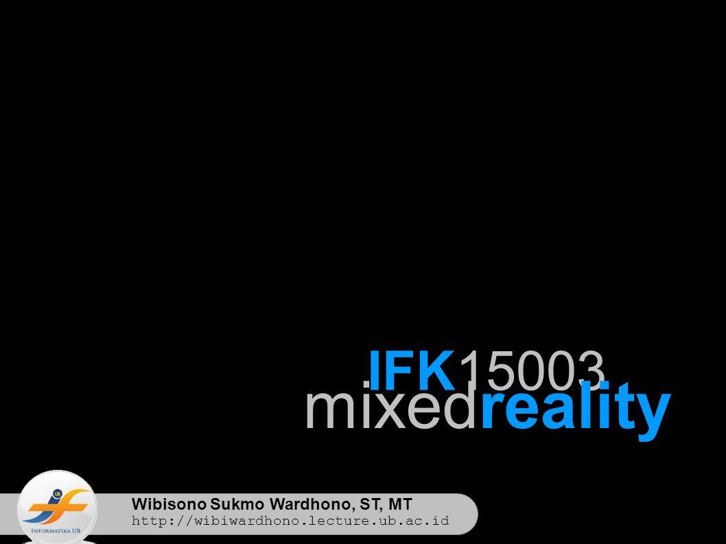 Wibisono Sukmo Wardhono, ST, MT http://wibiwardhono.lecture.ub.ac.id IFK15003 mixedreality