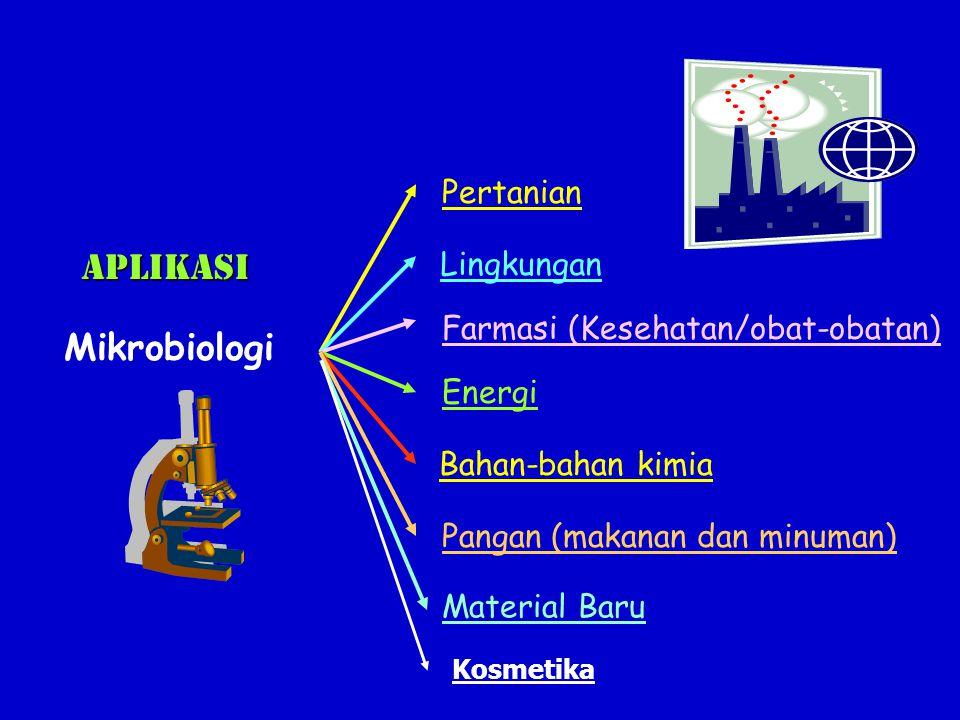 Bidang Pertanian Bioinsektisida/biopestisida/biofungisida/ bioherbisida - Bioinsektisida : kristal protein Bacillus thuringiensis Pupuk biologis : mikoriza dan rhizobium Bioinsektida Mikoriza Ladang kapas - Mikoriza : simbiosis mutualistis antara fungi Mikoriza (mendpt nutrisi fotosintesis dr tanaman) & akar tanaman (peningkatan absorbsi mineral fosfat pada tanah miskin unsur hara) - Rhizobium : bakteri penambat N 2 dari udara bersimboisis dengan tanaman leguminosa