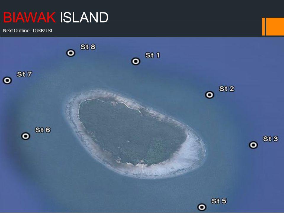 BIAWAK ISLAND Next Outline : DISKUSI Berada di utara Indramayu, Nama : Pulau Bonpies, pulau Rakit, dan pulau Biawak 1 dari 4 pulau yang ada : pulau gosong 1 dan 2, dan cendekia Ekosistem termasuk lengkap