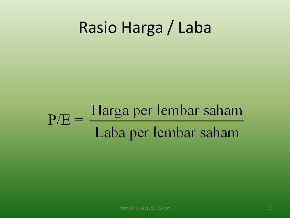 Rasio Harga / Laba 25Trisnadi Wijaya, SE., S.Kom