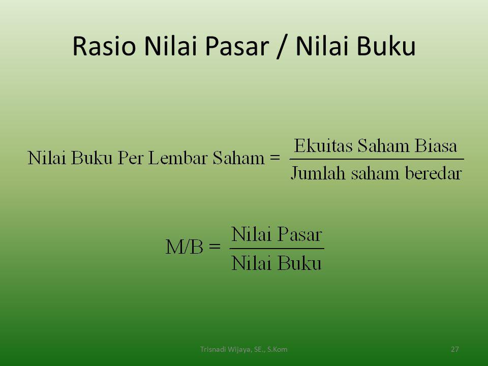 Rasio Nilai Pasar / Nilai Buku 27Trisnadi Wijaya, SE., S.Kom