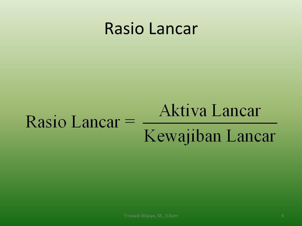 Rasio Lancar 6Trisnadi Wijaya, SE., S.Kom
