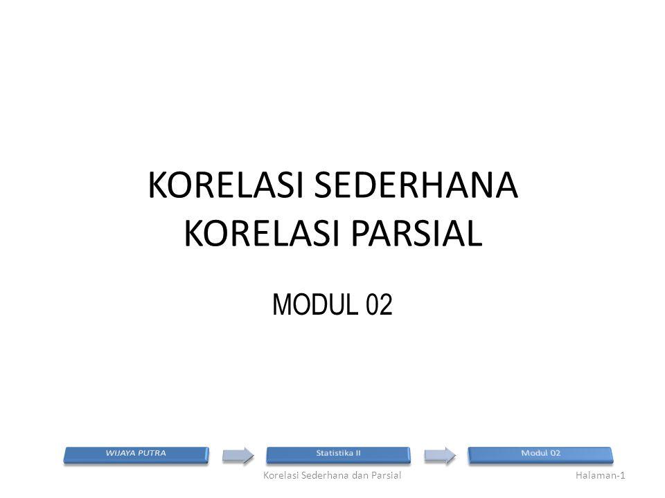 KORELASI SEDERHANA KORELASI PARSIAL MODUL 02 Halaman-1Korelasi Sederhana dan Parsial