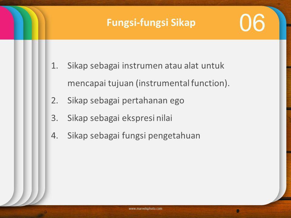 06 1.Sikap sebagai instrumen atau alat untuk mencapai tujuan (instrumental function).