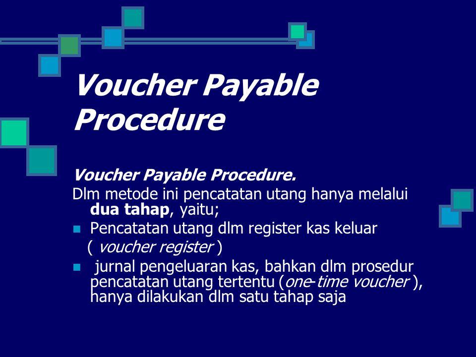 Voucher Payable Procedure Voucher Payable Procedure.