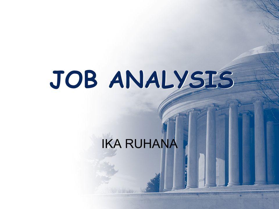JOB ANALYSIS IKA RUHANA