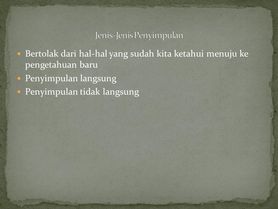 Contoh : 1.Jika tidak benar bahwa Ir Soekarno masih hidup, maka Ir Soekarno sudah meninggal.