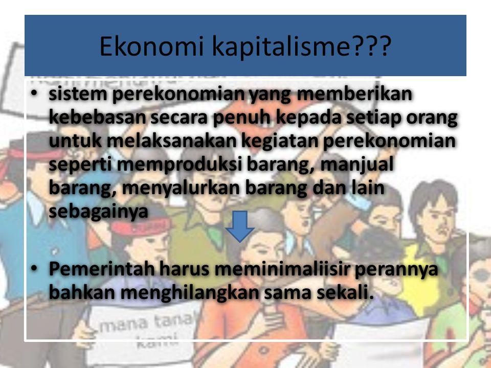Apa penyebab SDA Indonesia di kuasai oleh asing? penerapan sistem ekonomi KAPITALISME
