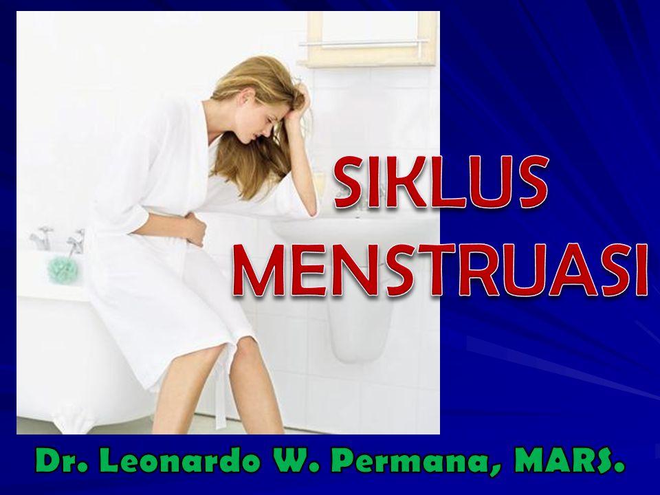 Dimulai saat pubertas Dimulai saat pubertas Secara normal berlanjut selama masa Secara normal berlanjut selama masa reproduktif reproduktif Berlangsung setiap bulan dan melibatkan berbagai organ : hipotalamus, hipofisis, ovarium, uterus, vagina, dan mamae Berlangsung setiap bulan dan melibatkan berbagai organ : hipotalamus, hipofisis, ovarium, uterus, vagina, dan mamae
