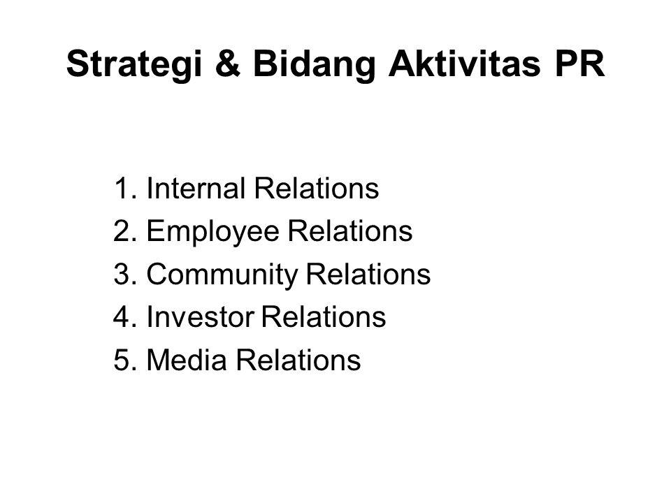 Industry relations: menjalin hubungan dengan perusahaan lain dan dengan asosiasi perdagangan.