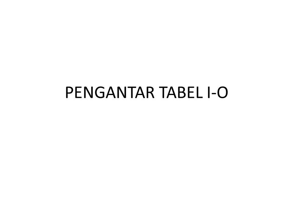 PENGANTAR TABEL I-O