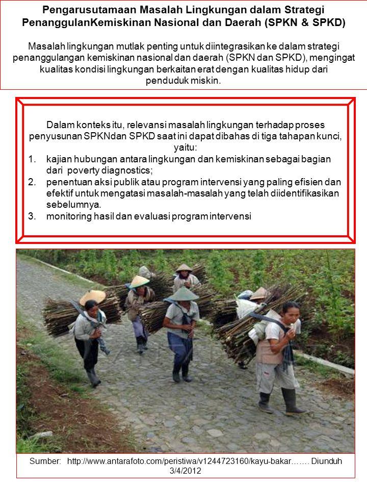 Sumber: http://www.antarafoto.com/peristiwa/v1244723160/kayu-bakar……. Diunduh 3/4/2012 Pengarusutamaan Masalah Lingkungan dalam Strategi PenanggulanKe