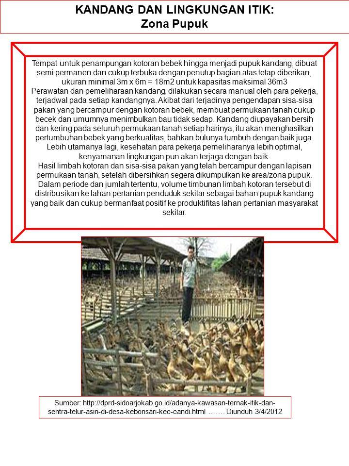Sumber: http://dprd-sidoarjokab.go.id/adanya-kawasan-ternak-itik-dan- sentra-telur-asin-di-desa-kebonsari-kec-candi.html ……. Diunduh 3/4/2012 KANDANG