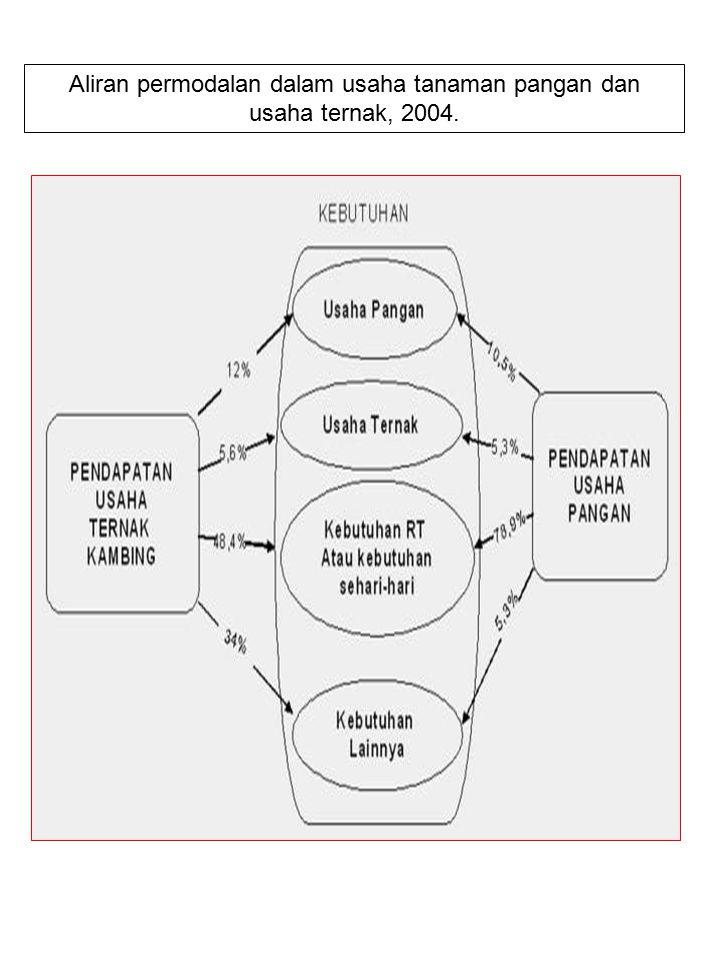 Aliran permodalan dalam usaha tanaman pangan dan usaha ternak, 2004.