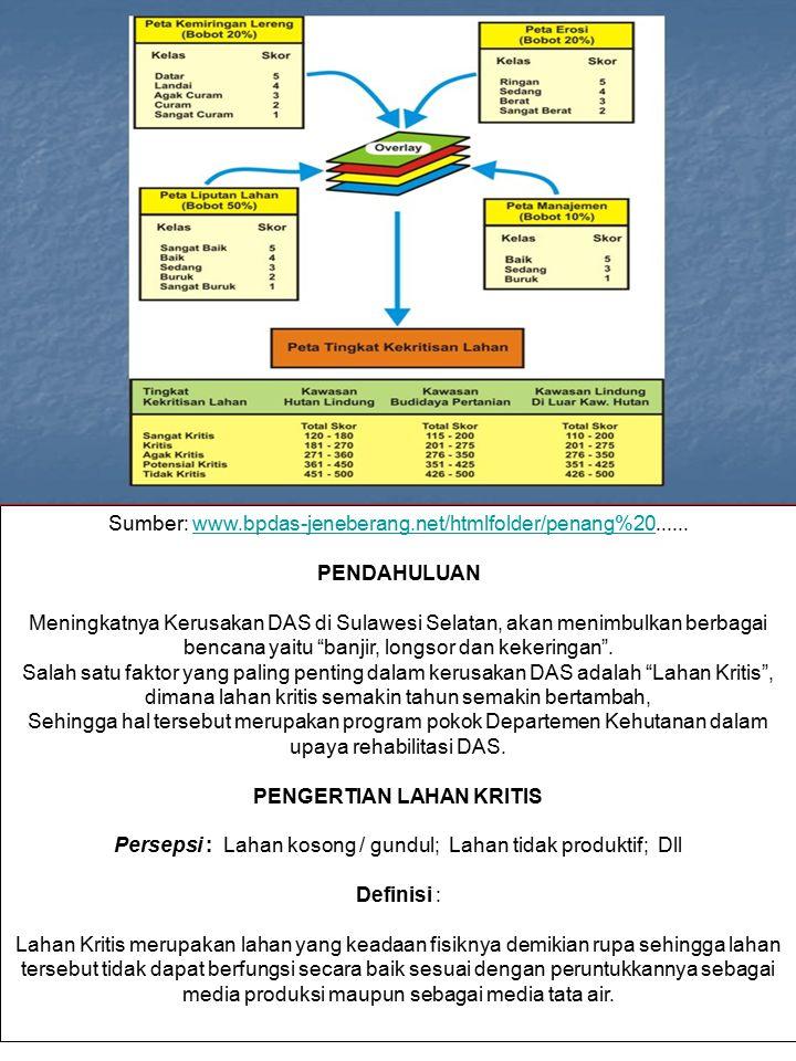 Sumber: www.bpdas-jeneberang.net/htmlfolder/penang%20......www.bpdas-jeneberang.net/htmlfolder/penang%20 PENDAHULUAN Meningkatnya Kerusakan DAS di Sul