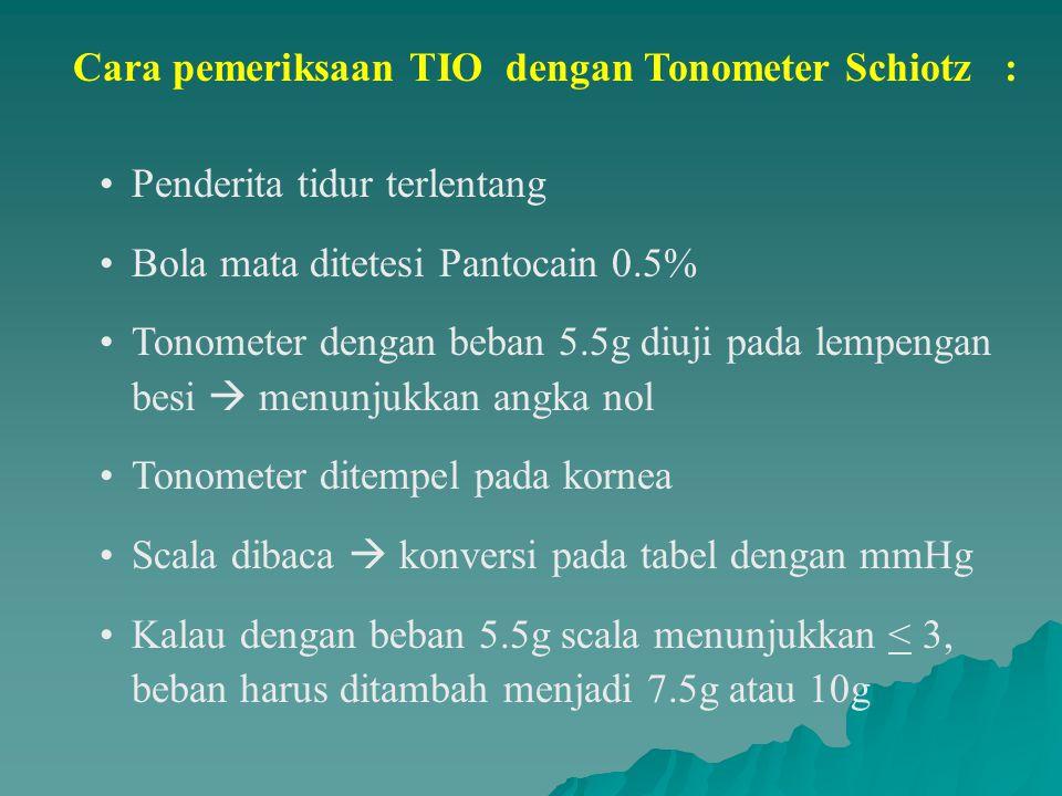 Hipertensi Okuli -TIO > 22 mmHg -Sudut bilik mata depan terbuka -Optik disk normal -Lapang pandang normal Prevalensi -6% dari TIO tinggi -0.5% jadi POAG