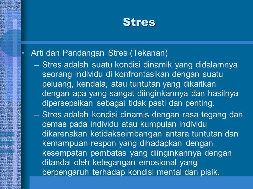PERTEMUAN 5 TEKANAN (STRESS) DAN INDIVIDU