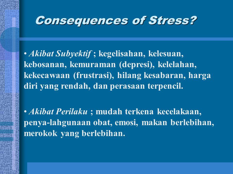 Stres Pengertian Secara Umum –Stres adalah suatu kondisi ketegangan yang mempengaruhi emosi, proses berfikir dan kondisi seseorang. –Stres adalah suat