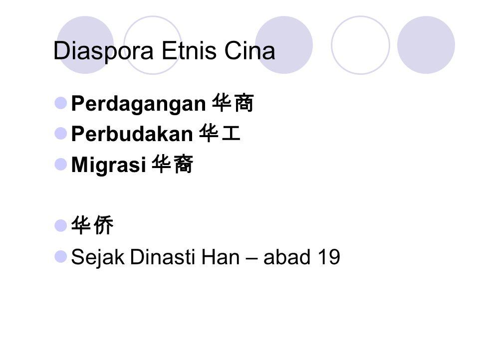 Diaspora Etnis Cina Perdagangan 华商 Perbudakan 华工 Migrasi 华裔 华侨 Sejak Dinasti Han – abad 19