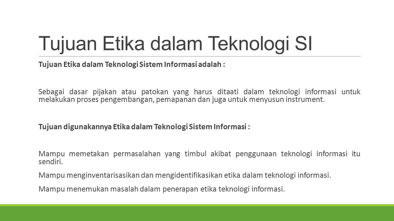 Isu-Isu Pokok Etika Komputer 1.