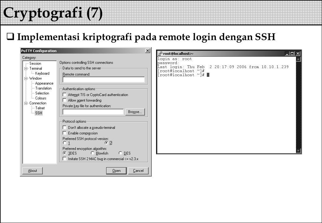  Implementasi kriptografi pada remote login dengan SSH Cryptografi (7)
