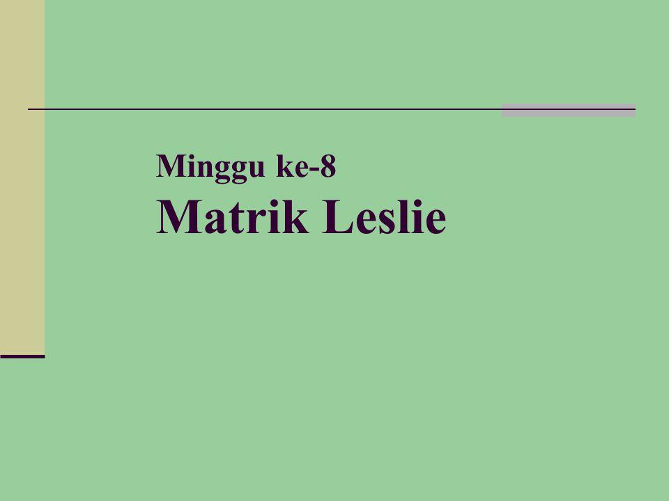 Minggu ke-8 Matrik Leslie
