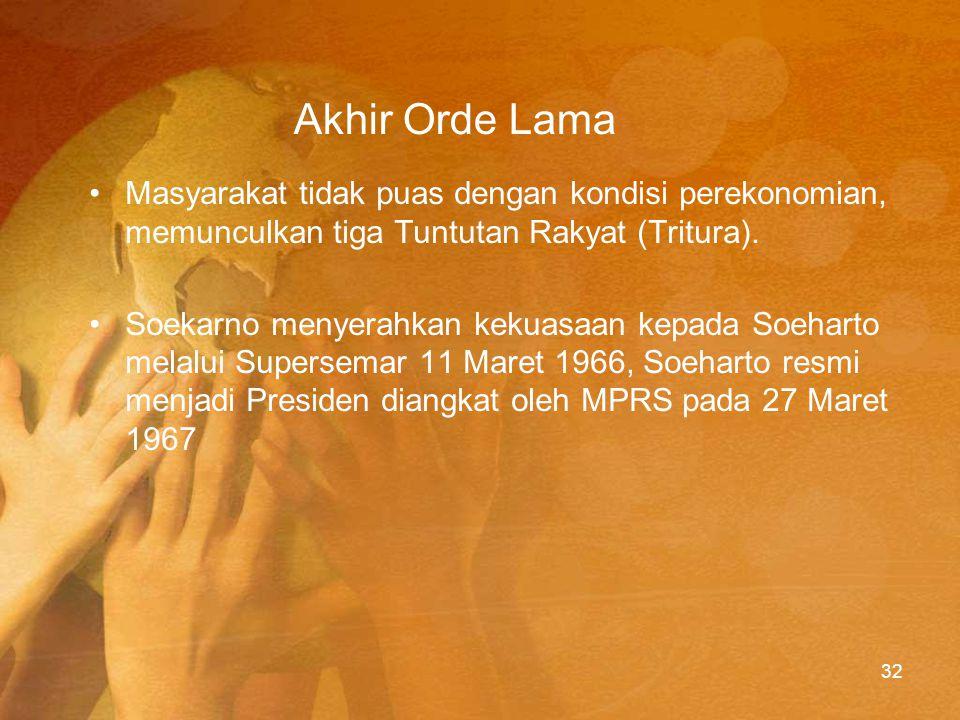 Awal Pemerintahan Sehari setelah diberi mandat Supersemar, Jenderal Soeharto langsung melarang keberadaan PKI.