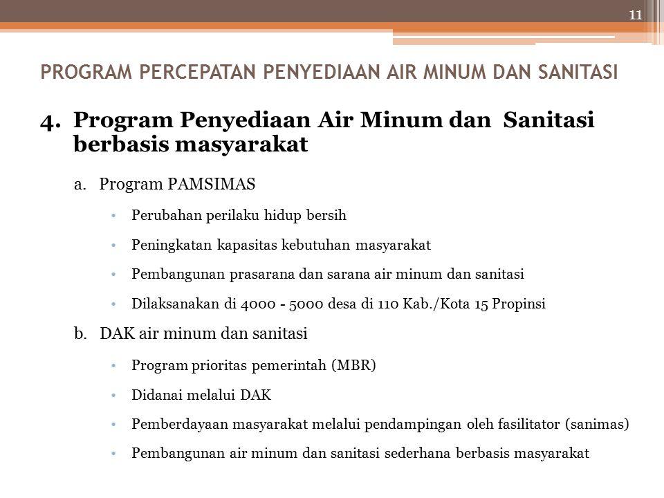 11 4.Program Penyediaan Air Minum dan Sanitasi berbasis masyarakat a.