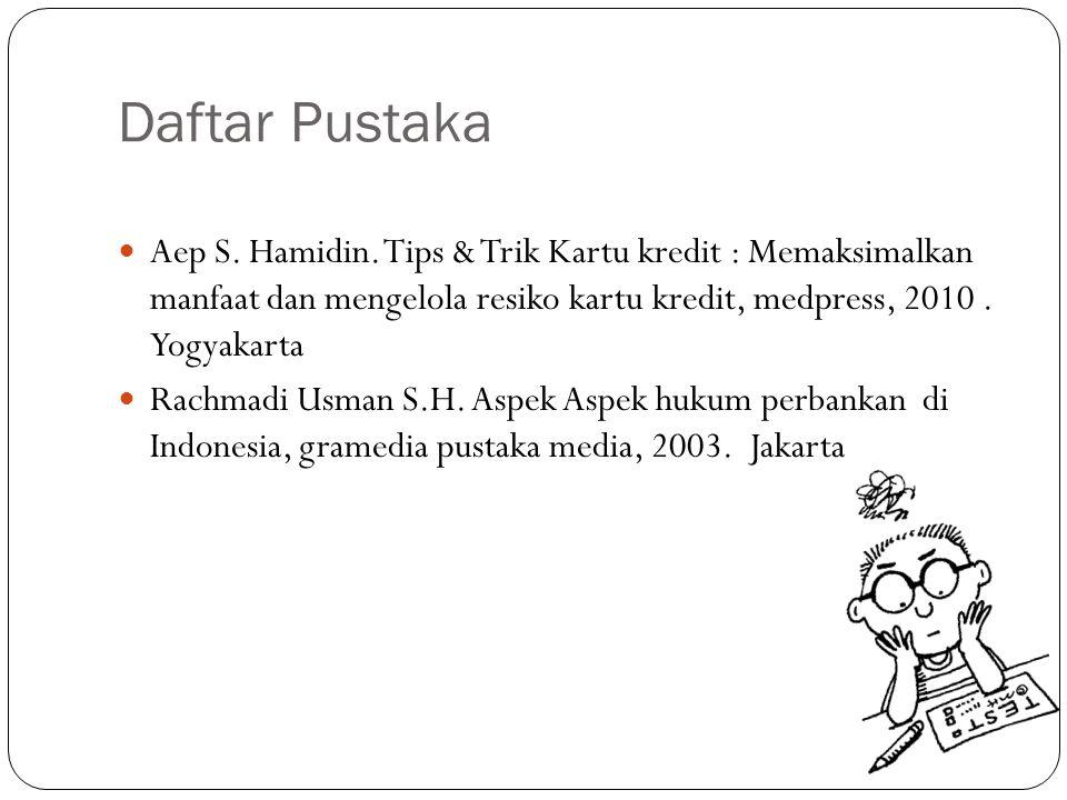 Daftar Pustaka Aep S.Hamidin.