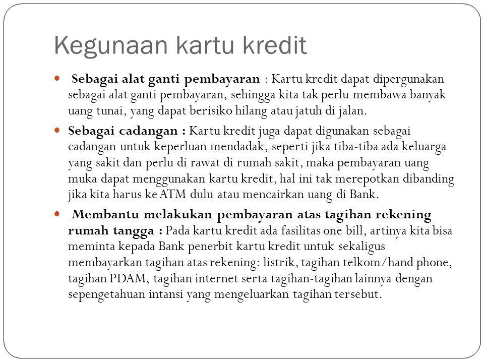 Peraturan penagihan hutang kartu kredit melalui debt collector Pasal 17 ayat (5) Peraturan Bank Indonesia (PBI) Nomor 11/11/2009 menyatakan, Penerbit Kartu Kredit wajib menjamin bahwa penagihan atas transaksi Kartu Kredit, baik yang dilakukan oleh Penerbit Kartu Kredit sendiri atau menggunakan jasa pihak lain, dilakukan sesuai dengan ketentuan yang ditetapkan dengan Surat Edaran Bank Indonesia.