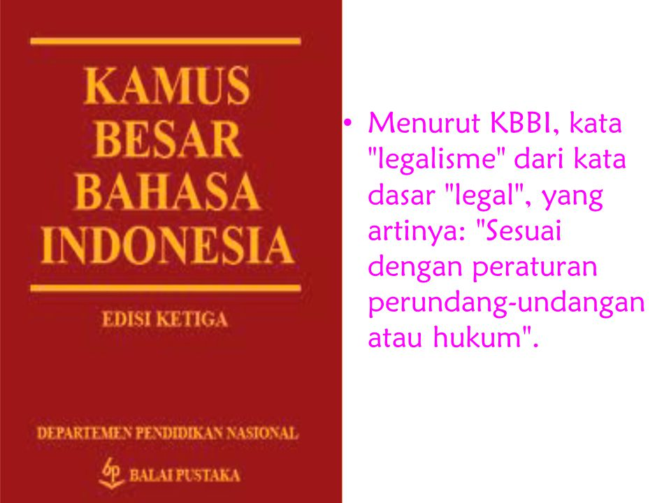 Menurut KBBI, kata