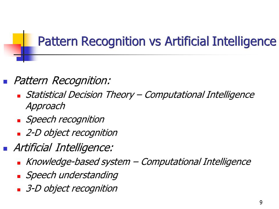10 Beberapa Pattern Recognition Systems Contoh beberapa pattern recognition (PR) system: Computer-based procedures for automatically classifying objects and making decisions.