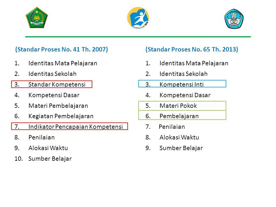 (Standar Proses No.41 Th. 2007)(Standar Proses No.