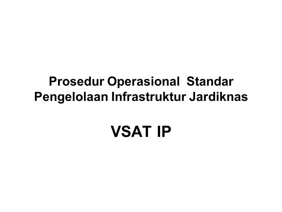 Prosedur Operasional Standar Pengelolaan Infrastruktur Jardiknas VSAT IP