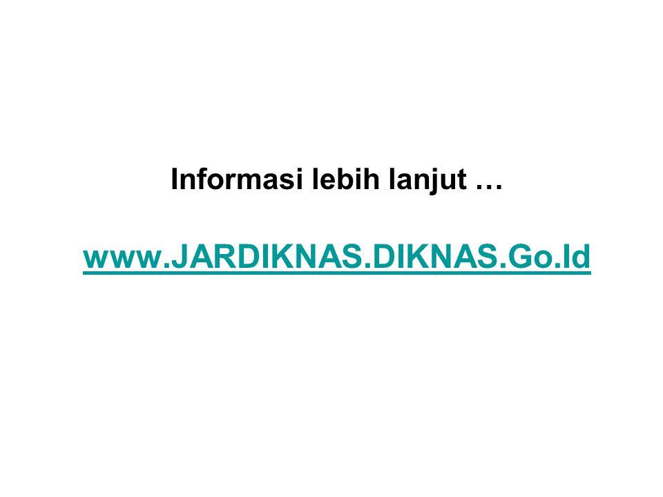 Informasi lebih lanjut … www.JARDIKNAS.DIKNAS.Go.Id www.JARDIKNAS.DIKNAS.Go.Id