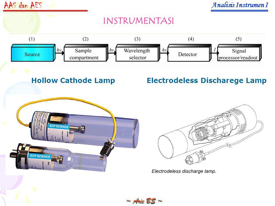 Analisis Instrumen I ~ Arie BS ~ AAS dan AES INSTRUMENTASI Hollow Cathode LampElectrodeless Discharege Lamp