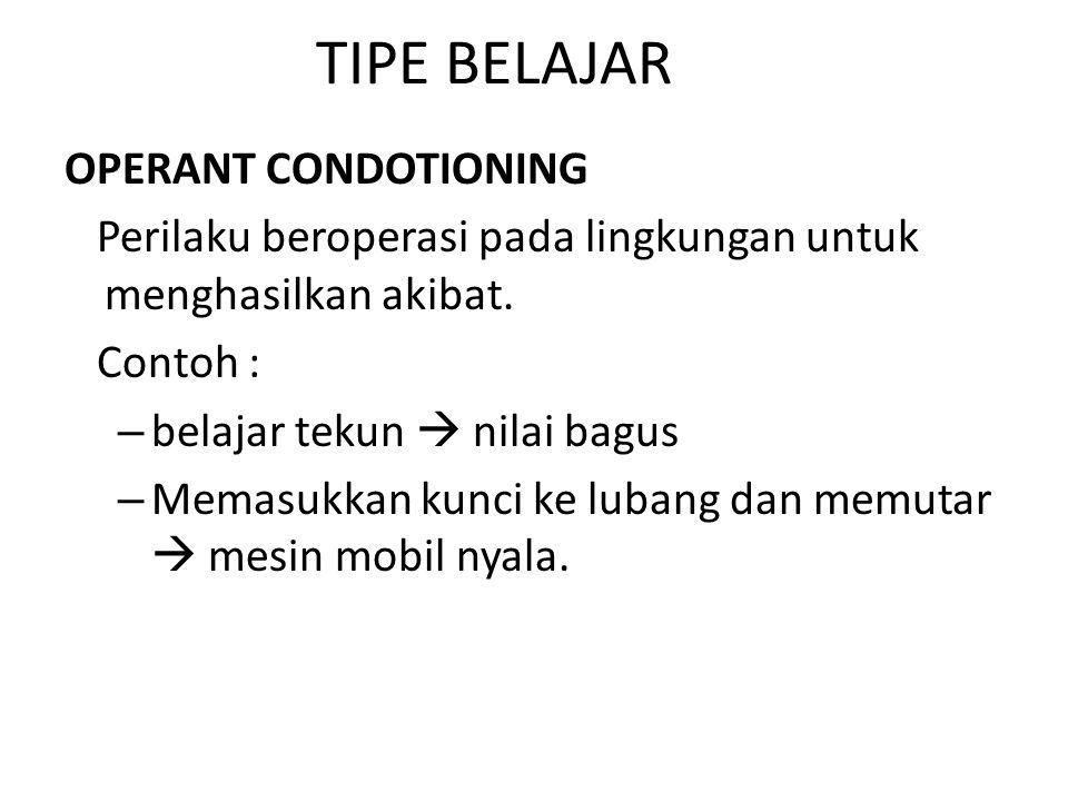 Kondisi-kondisi batin bisa dipelajari sama seperti perilaku lainnya 1.KESADARAN DIRI 2.DORONGAN-DORONGAN 3.EMOSI 4.TUJUAN DAN MINAT
